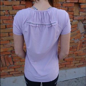 Lululemon Lilac Tee With back ruffled details 8